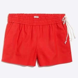 "J. Crew Fresh Poppy 3 1/2"" Pull On Shorts"